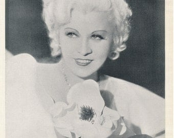 Mae West | Klondike Lou | Black and White Photo | Old Hollywood Actress | Vintage Photograph | Golden Age | Vaudeville | Comedienne