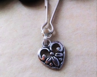 Fancy Heart Zipper Pull, Heart Keychain, Key Chain, Gift For Her, Girl, Valentine's Day, Gift for Teen, Bohemian, Classical, Love