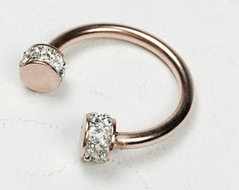 Mid-ring boho chic pink gold