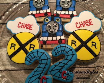 Thomas The Train -1 dozen custom cookies