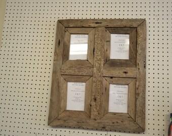 Rustic Barnwood 5 X 7 Window Collage Barn Wood Picture Frame