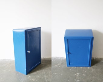 Blue safe, safe, Cabinet, metal cabinet, vintage wall cabinet