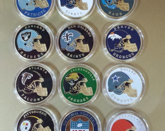 Collectible NFL Football Challenge Coin FREE SHIPPING in the Usa