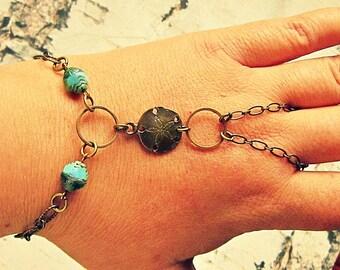 Sandollar Bracelet, Sand Dollar Bracelet, Sand Dollar Slave Bracelet, Beach Slave Bracelet, Sand Dollar Jewelry, Laguna Collection