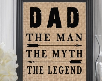 Dad The Man The Myth The Legend, Papa The Man The Myth The Legend, Father Birthday Gift, Papa Gifts, Funny Grandpa Gift