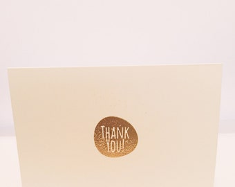 Gold embossed Thank You note.