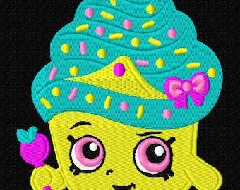 Cute Cupcake Machine Embroidery Pattern