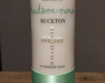 20cm Custom Made Baptism/ Christening Candle