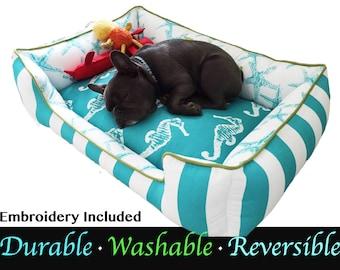 Small Dog Bed | Beach Dog Bed | Beach Decor | Custom Dog Bed | Washable Dog Bed | Waterproof Dog Bed | Durable Dog | Waterproof Pet Bed |
