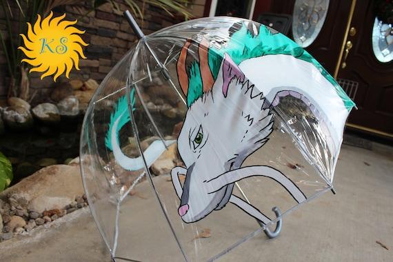 Haku Spirited Away Inspired Bubble Umbrella Hand Painted