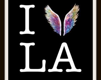 I Fly LA (Black) by Colette Miller Print