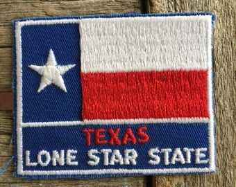 Texas Lone Star State Vintage Travel Souvenir Patch from Voyager