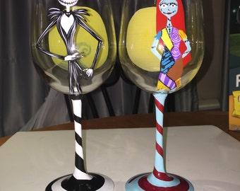 Nightmare Before Christmas Wine Glass Set