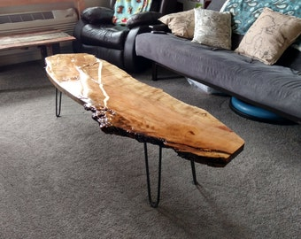 Live Edge Silver Maple Coffee Table