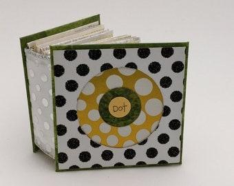 Artists' Book, Handmade Book, Miniature Artist's Book, Miniature Book, Dots, Quotes, Accordian Book