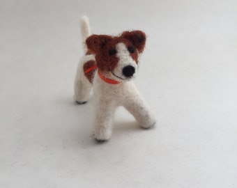 Needle-Felted Jack Russell Terrier Dog