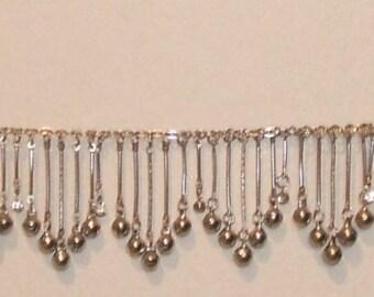 Silver Fringe Bells Necklace