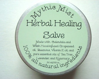 Herbal Healing Salve, Calendula Salve, Beeswax Salve, Hand Salve All Natural Salve, Witch Hazel Salve, All Purpose Healing Salve