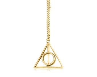 Necklace pendant Harry Potter Deathly Hallows . TMPL_SKU007118