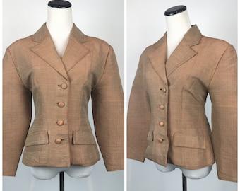 Vintage 1950s  Suit Jacket Blazer Cardigan 50s 60s  Pinup Bolero 9022