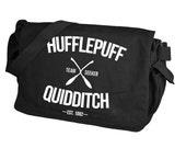 Hufflepuff Quidditch Black Messenger Bag