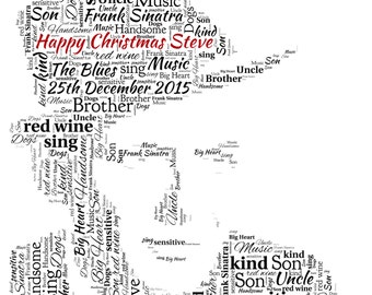 Personalised Word Art - A Frank Sinatra Design - A4 Print or Digital File