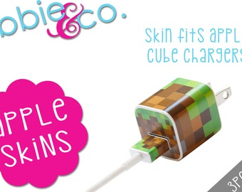 Pixel Blocks Apple iPhone Charger Skin!!! SK13