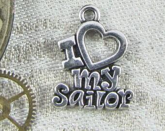1 or 4, I Love My Sailor, Sailor Charm, Navy, Navy Charm, Navy Pride, Military Charm, Navy Mom, Navy Wife, Navy Girlfriend, CAU057