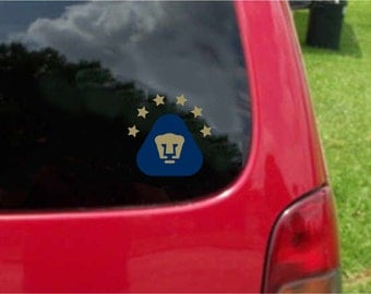 2 Pieces Pumas UNAM  Futbol Mexico  Decals Stickers Full Color/Weather Proof. U.S.A Free Shipping