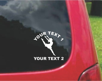 Set Dancer Decals with custom text Fundraising  20 Colors To Choose From.  U.S.A Free Shipping