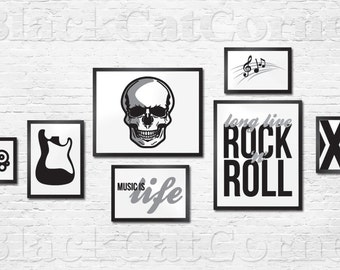 Gallery Wall - Rock n Roll