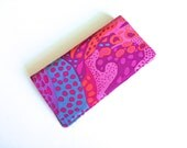 Checkbook Cover, Checkbook Holder, Coupon Holder, Hot Pink Abstract Print, Mothers Day Gift, Secret Pal Gift by 8th Day Encore