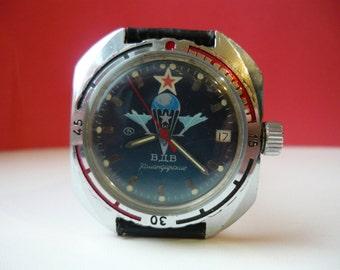 Vostok Komandirskie / Vintage wrist watch / men's Watch Vostok / VDV / airborne troops / Mechanical watch / USSR / Soviet Union