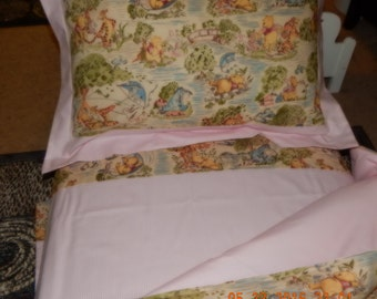 CUSTOM BEDDING - Winnie the Pooh Classic Toile / Toddler