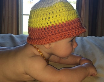 Candy Corn Hat (READY TO SHIP)