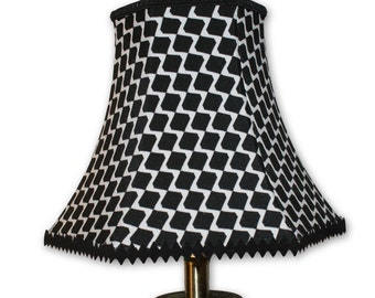 Monochrome Lampshade Geometric Lamp Shade for Table Lamp Base Black and White Handmade 10""