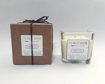 10 oz Unscented Simply Soy Candle