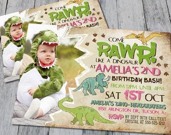 Dinosaur Birthday Party Invitation (Printable)