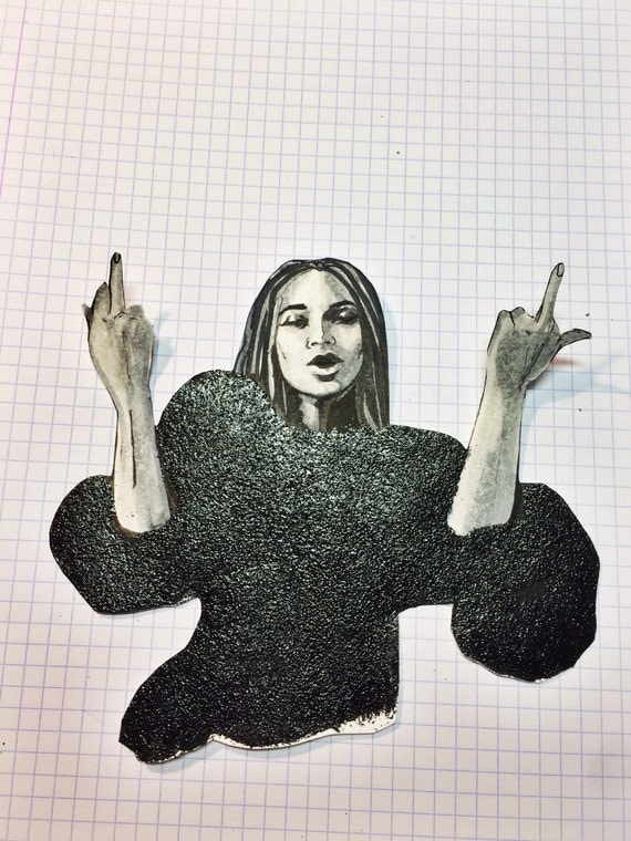 Middle Fingers Up Beyonce Lemonade Sticker By