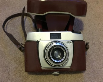 Vintage ADOX German Camera with origional case, Prontor 125 with flash