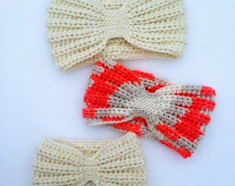 The Everly Head Wrap- Crochet Ear Warmer *Three Sizes*