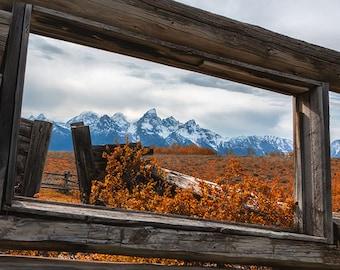A Window to the World | Scenic, landscape, rural, Tetons, farm, fine art