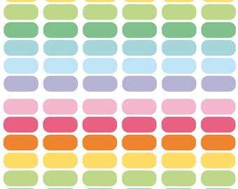 108 solid oval stickers, planner stickers, scrapbook sticker, reminder checklist sticker eclp filofax happy planner