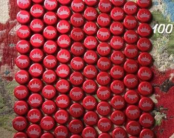 100 Budweiser Beer Bottle Caps