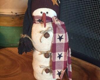 Primitive Americana Snowman