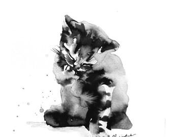Kylie, Print from original ecoline illustration