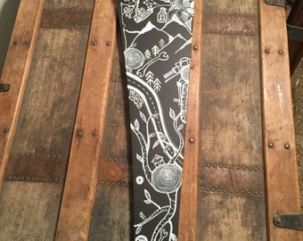 Vintage Handsaw Artwork || Pacific Northwest Wall Art || Motorcycle Wall Art || Nature Art Work