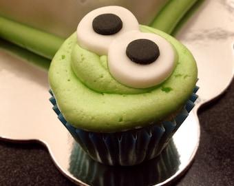 Googly Eye Mini-Cupcake Toppers - Set of 12