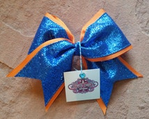 Mini Cheer Bow. Cheer Bow. Hair Bows. Competition Cheer Bows. Team Hair Bows. Volleyball Hair Bows. Softball Hair Bows. Cute Cheer Bows.