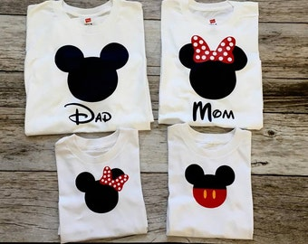 Disney Family Shirts I Matching Disney Shirts I Mickey and Minnie Head Couples Shirts I Disney Tank Tops I Custom Disney Trip Shirt I Cruise